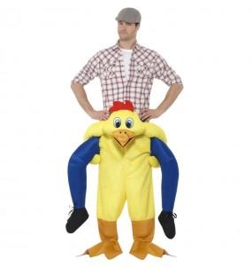 Disfraz de Pollo Corral a hombros para adulto