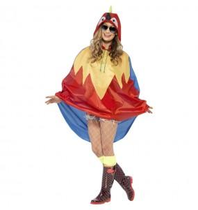 Disfraz de Loro Poncho Impermeable