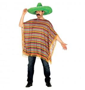 Disfraz de Mejicano Poncho para hombre