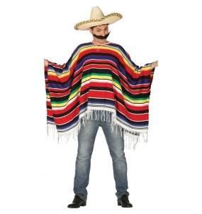 Disfraz de Poncho Mexicano Original para hombre