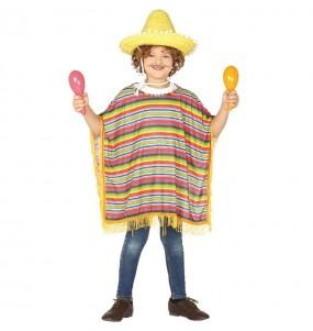 Disfraz de Poncho Mejicano para niño
