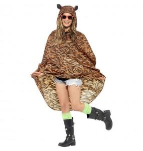 Disfraz de Tigre Poncho Impermeable