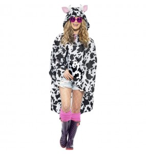 Disfraz de Vaca Poncho Impermeable