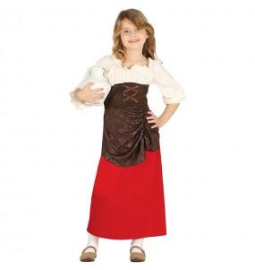 Disfraz de Posadera Medieval para niña