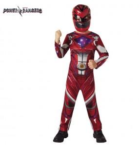 Disfraz de Power Ranger Rojo para niño