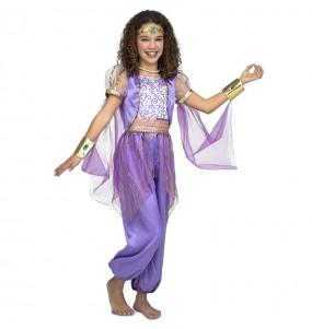 Disfraz de Princesa Árabe Morada para niña