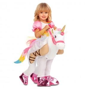 Disfraz de Princesa con unicornio para niña