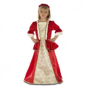 Disfraz de Princesa Roja Deluxe para niña