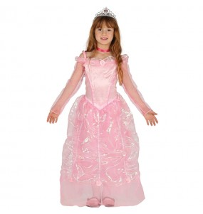 Disfraz de Princesa Cuento Rosa Deluxe para niña