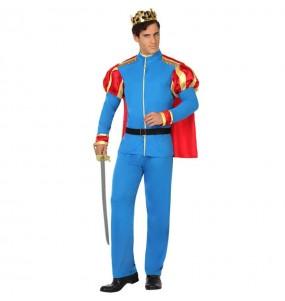 Disfraz de Príncipe Azul con capa para hombre