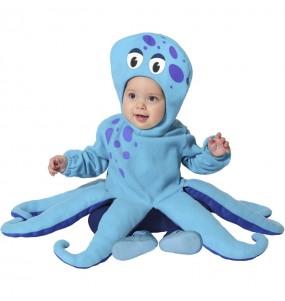 Disfraz de Pulpo azul para bebé