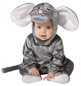 Disfraz de Ratón gris para bebé