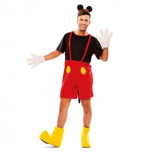 Disfraz de Ratoncito Mickey Mouse para hombre