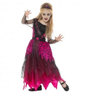 Disfraz de Reina del Baile zombie para niña