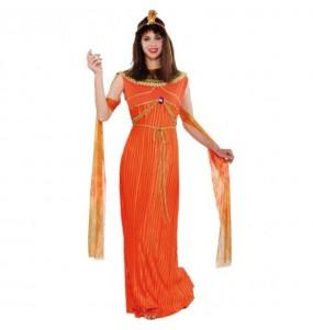 Disfraz de Reina Egipcia Naranja