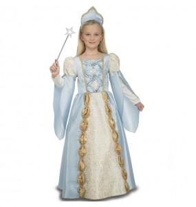 Disfraz Reina Medieval Azul nina