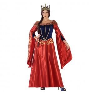 Disfraz de Reina Medieval Roja para mujer