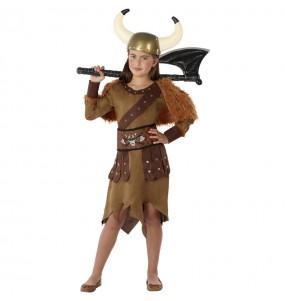 Disfraz de Reina Vikinga para niña