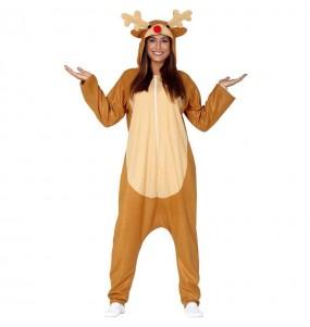 Disfraz de Reno Navidad Kigurumi para adulto