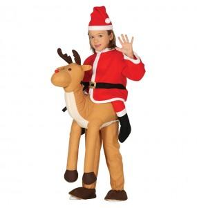 Disfraz de Reno Papa Noel a hombros para niños