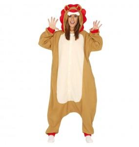 Disfraz de León Kigurumi para adulto