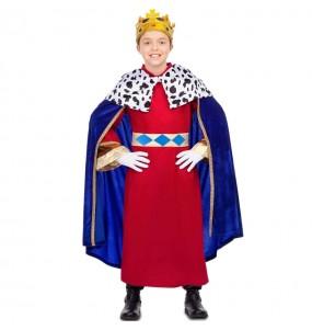 Disfraz de Rey Mago capa azul para niño