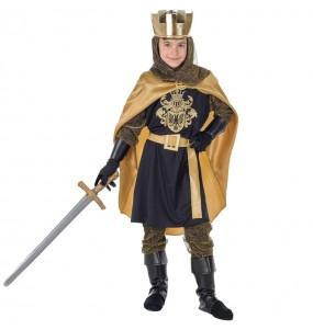 Disfraz de Rey Medieval Dorado para niño