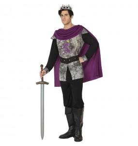 Disfraz de Rey medieval gris para hombre
