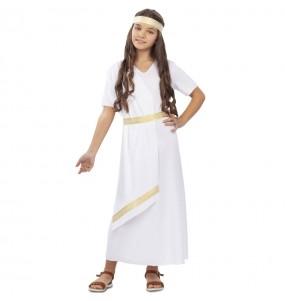Disfraz de Romana Blanca para niña