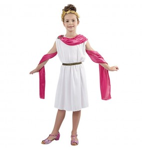 Disfraz de Romana Rosa infantil