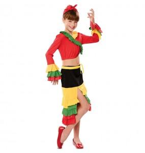 Disfraz de Rumbera Colorines para niña