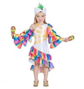 Disfraz de Rumbera Cubana para niña