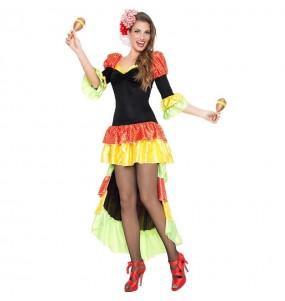 Disfraz de Rumbera Salsa para mujer