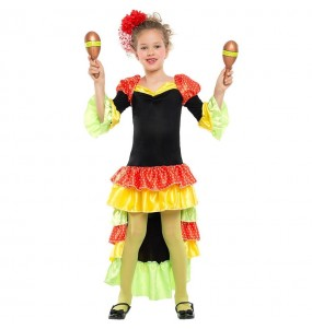 Disfraz de Rumbera Salsa para niña