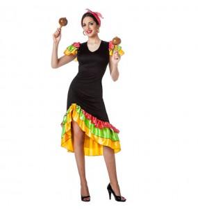 Disfraz de Rumbera Salsera para mujer