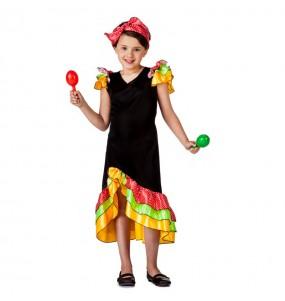 Disfraz de Rumbera Salsera para niña