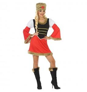 Disfraz de Rusa Roja para mujer