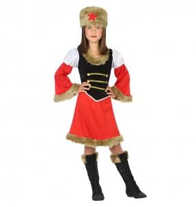Disfraz de Rusa Roja para niña