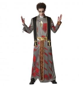 Disfraz de Sacerdote zombie para hombre