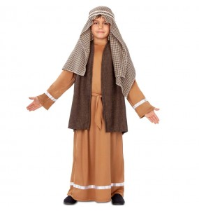Disfraz de San José marrón para niño