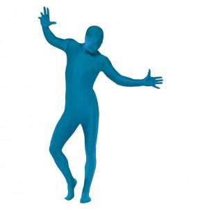 Disfraz de Segunda Piel Azul para adulto