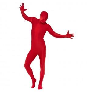 Disfraz de Segunda Piel Rojo para adulto