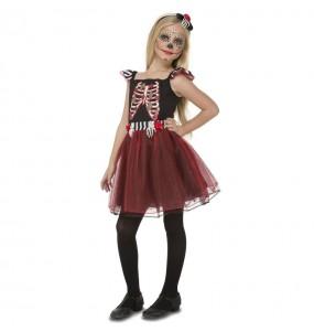 Disfraz de Señorita Esqueleto para niña