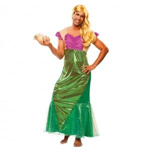 Disfraz de Sirenita para hombre