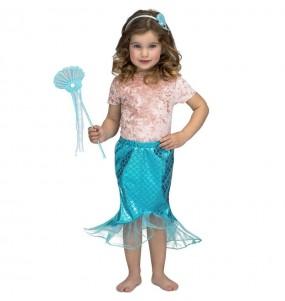 Disfraz de Sirenita Tutú azul para niña