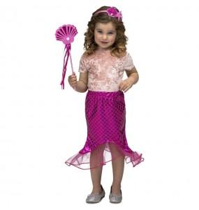 Disfraz de Sirenita Tutú rosa para niña