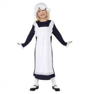 Disfraz de Sirvienta Época Victoriana para niña