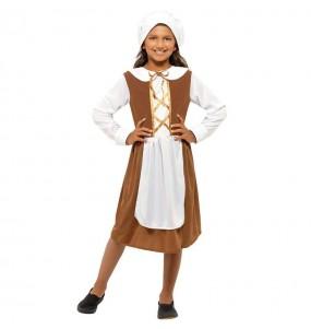 Disfraz de Sirvienta Tudor para niña