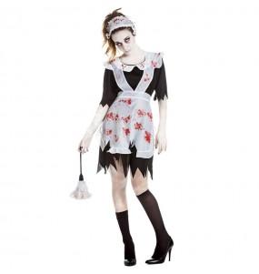 Disfraz de Sirvienta zombie para mujer