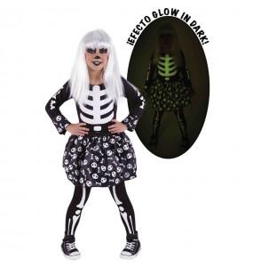 Disfraz de Skelita Glow in Dark para niña